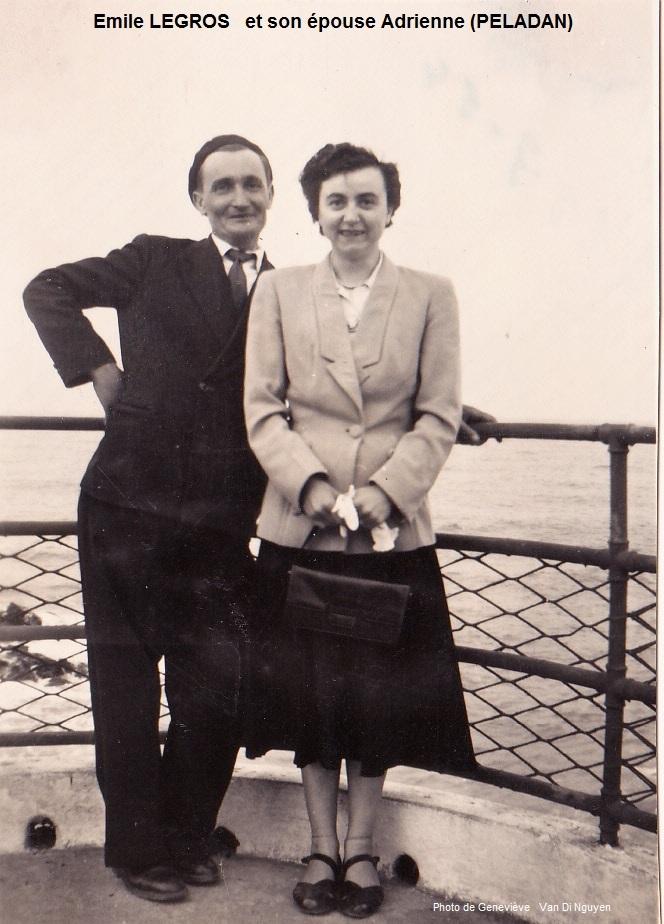 Emile LEGROS et son épouse