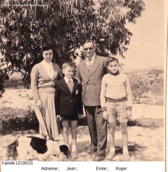 Couple LEGROS et leurs 2 fils